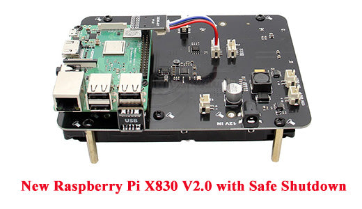 2019 New updated X830 V2.0 Version with Safe Shutdown/Safe Power Off  3.5 inch SATA Storage 12V Expansion Board