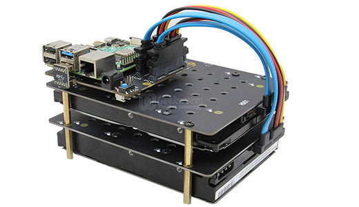 Raspberry Pi 4 X880 12V Dual SATA Gen3 HDD Shield Support Dual 2.5