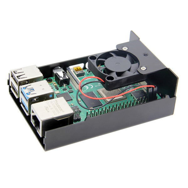 Raspberry Pi 4 computer model B Aluminum Alloy Metal Case with Cooling Fan for Raspberry pi 4 model B
