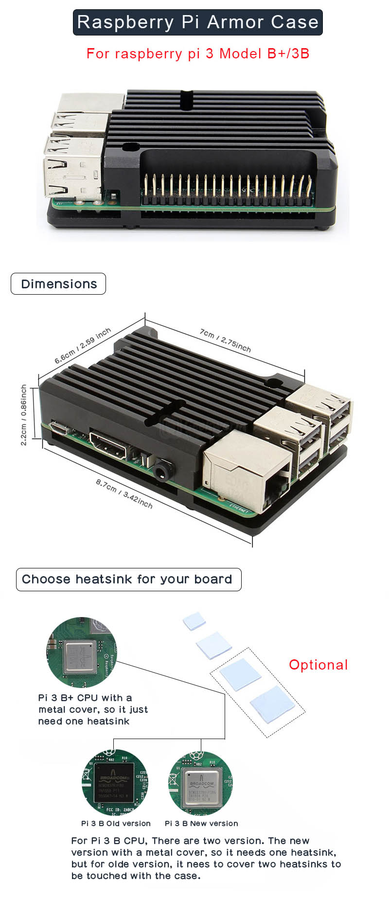 Raspberry Pi Armor case installation guide
