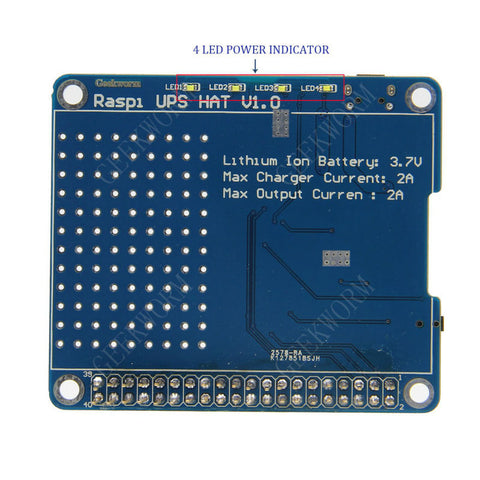 Geekworm Raspberry Pi UPS HAT Expansion Board | Power