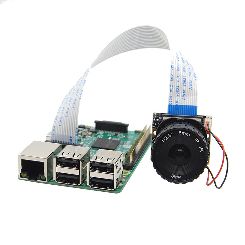 Raspberry Pi Camera / 5MP 8mm Focal Length Night Vision NoIR Camera Board with IR-CUT for Raspberry Pi 3 Model B/2B/B+/Zero (w)
