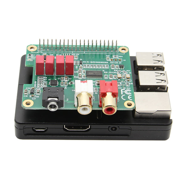install the Raspberry Pi PCM5122 HIFI Audio DAC Expansion Board on the Raspberry pi 3 B Plus CNC Ultra-Thin Aluminum Alloy Metal Case | Enclosure (WiFi available)