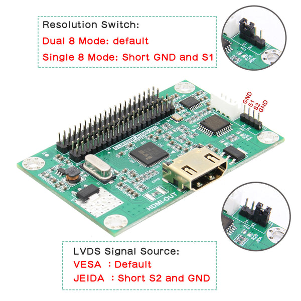 LVDS to HDMI Adapter Board
