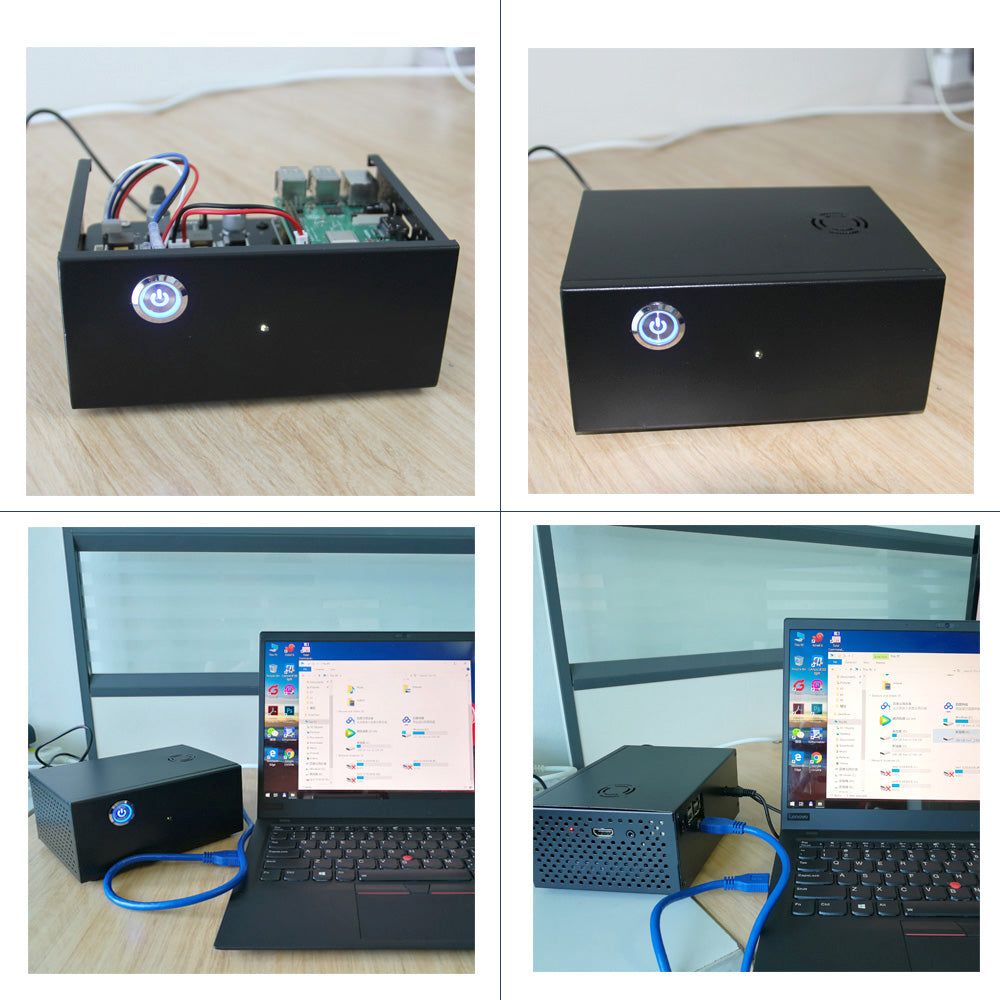 The application of Raspberry Pi X830 3.5 inch SATA HDD Storage Board + 19V 2A Power Supply + Metal Case Kit
