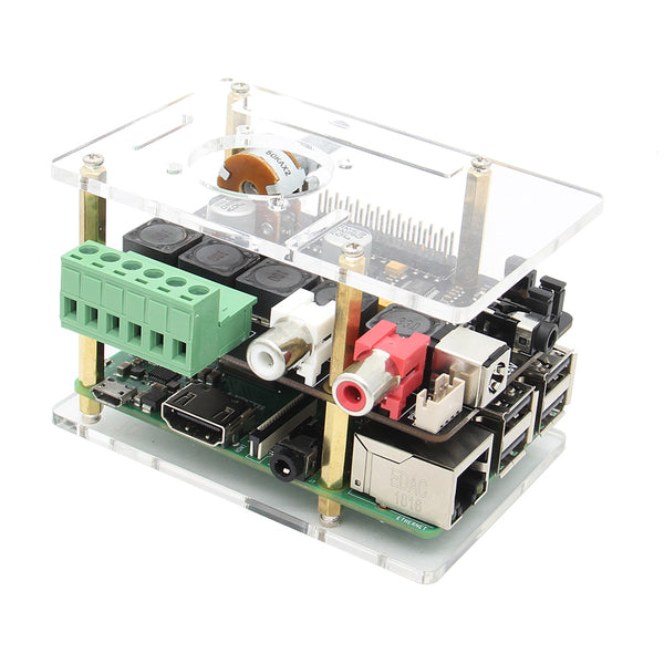 Raspberry Pi X400 V3.0 Audio Expansion Board Use Acrylic Case