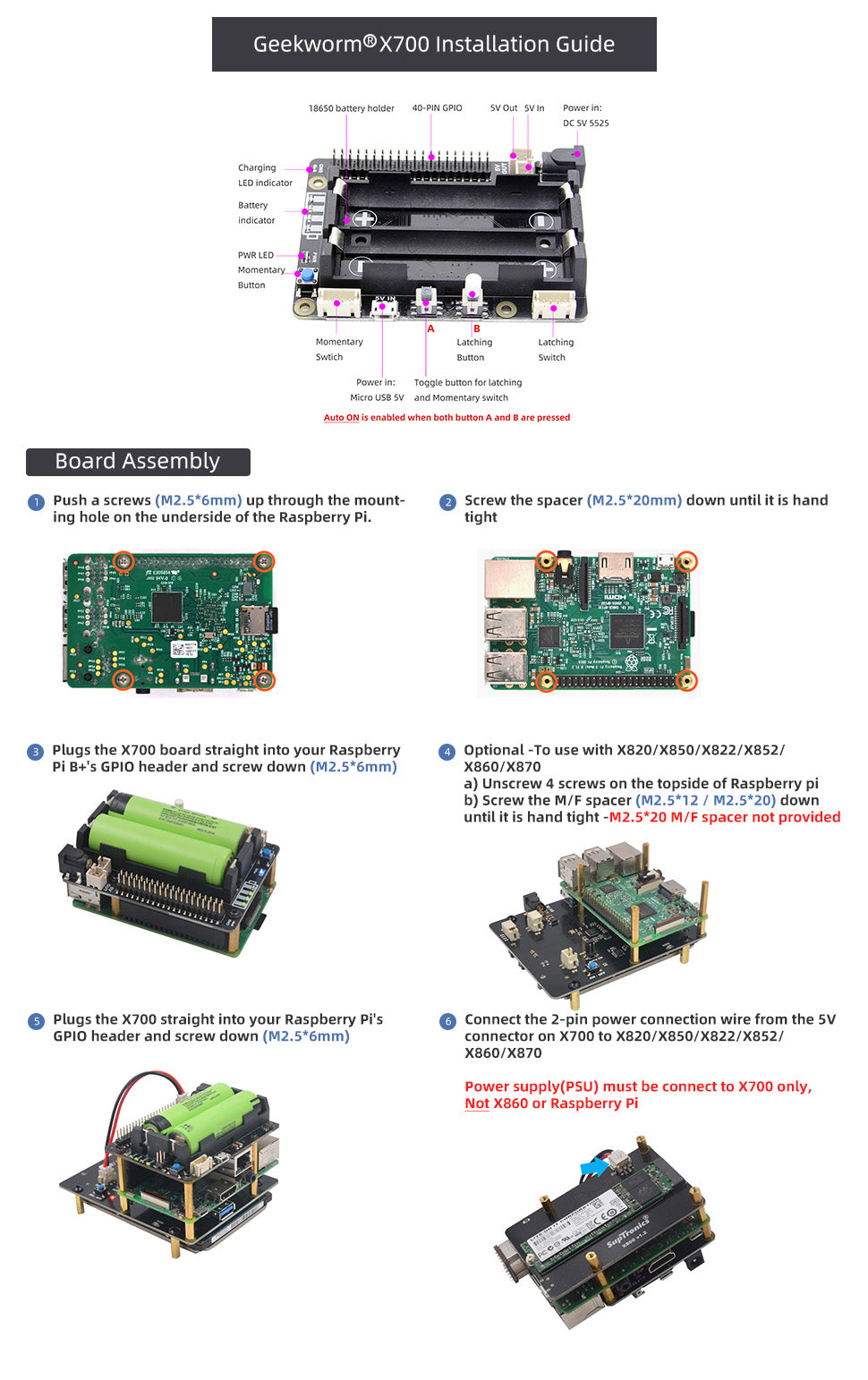 Raspberry Pi 4 X70 Installation Guide