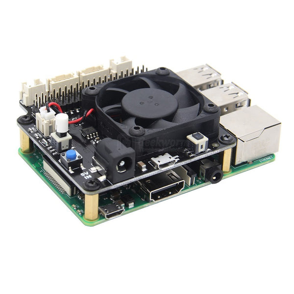 Raspberry Pi X735 Safe Shutdown Power Management & Auto Cooling Expansion Board