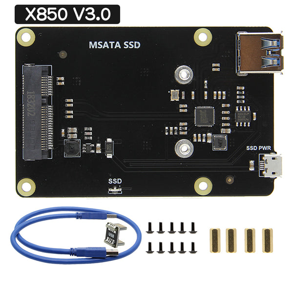 new X850 V3.0 mSATA SSD HAT size Expansion Board
