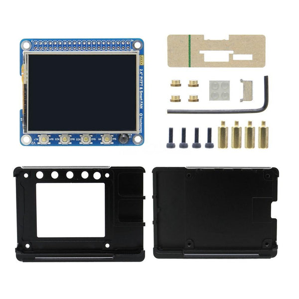 Raspberry Pi 3B+/3B 2.2 Inch TFT Display with CNC Case Kit