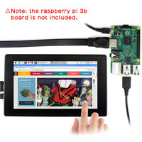 Raspberry Pi 4 Model B/3B+3B 7 inch 1024x600 OSD Menu HDMI Capacitive Touchscreen Display w/ Case Bracket