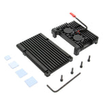 Raspberry Pi 3B+/3B Aluminium Alloy Metal Armor Cooling Case with Dual Fan