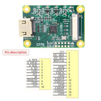 Raspberry Pi HDMI to CSI-2 Adapter Board with 15 pin FFC cable