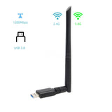 Geekworm NVIDIA Jetson Nano Dual Band Wireless USB 3.0 WiFi Adapter 5GHz+2.4GHz 1200M