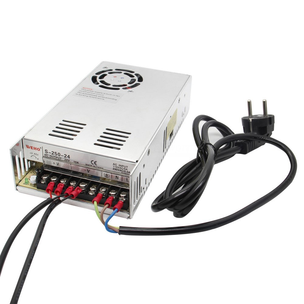 24V 10A Single Output 250W Switching Power Supply for Raspberry Pi X450 DAC+AMP Expansion Board