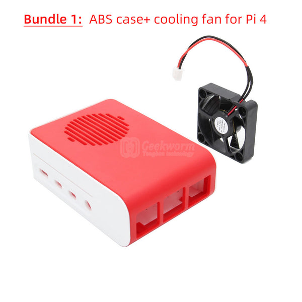 Raspberry Pi 4 Protective ABS Case/Box with DC 5V 4010 Cooling Fan(P175)