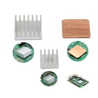 Raspberry Pi 3 Model B+ Heat Sink | 2pcs Aluminum + 1pcs Copper Heatsinks