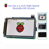 Raspberry Pi Project 3.5 inch 60+FPS High-Speed 800x480 HD TFT LCD Display w/ IR