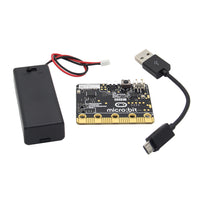 Micro:Bit Go (On-the-go Starter Bundle) Board + AAA Battery Holder + USB Cable Kit