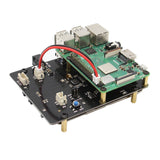 Raspberry Pi X820 V3.0 2.5 inch SATA Storage Board + DC 5V 4A Power Supply + Metal Case Kit
