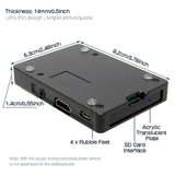 Raspberry pi 3 B Plus CNC Ultra-Thin Aluminum Alloy Metal Case | Enclosure (WiFi available)