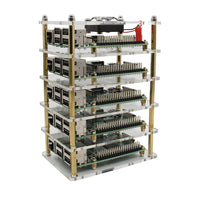 Raspberry Pi Cluster Case with Fan Kit | 1- 5 layer Multi Layer Acrylic Case