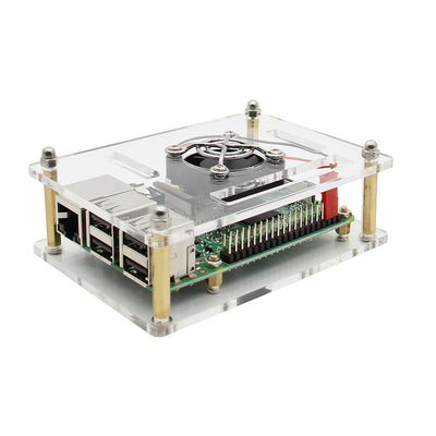 Raspberry Pi 4/3B+/3B Cluster Case with Fan Kit | 1- 5 layer