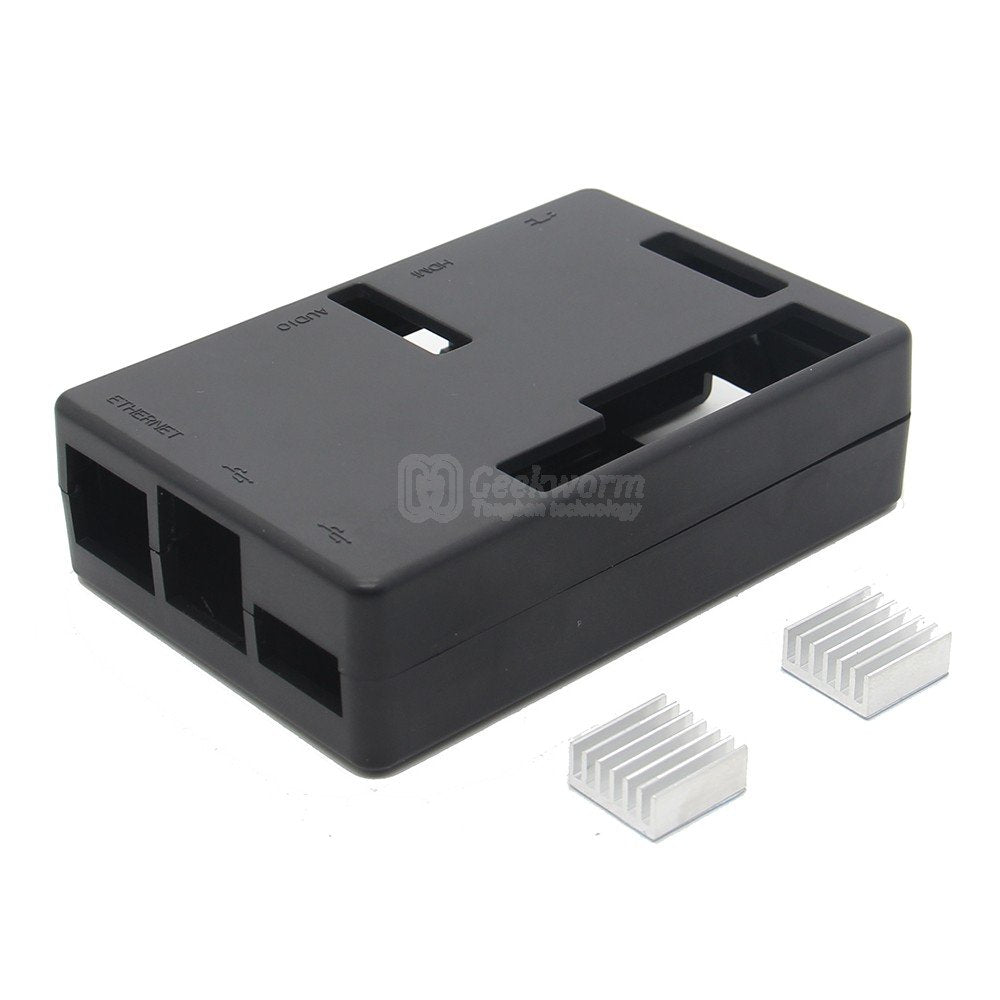ROCK64 ABS Protective Case | Enclosure with 2pcs Aluminum Heatsinks