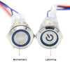 19mm Metal Push Button Switch Latching Self-Locking / Momentary Self-Reset Power Control Switch