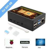 Raspberry Pi 4 Model B 3.5 inch Max 50FPS 480x320 TFT Touch Screen with ABS Case Kit (Support Raspbian, Ubuntu, Kali, Retropie System )