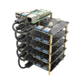 "Raspberry Pi NAS SATA Adapter Stackable X828 2.5"" SATA HDD/SSD Cluster Shield Compatible with Raspberry Pi 4B/3B+/3B"