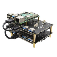 "Raspberry Pi NAS SATA Adapter Stackable X828 2.5"" SATA HDD/SSD Cluster Shield"