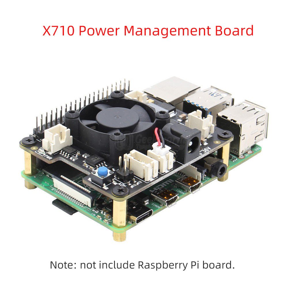 Raspberry Pi X710 Power Management with Wide Voltage Input(6V to 36V), Safe Shutdown Expansion Board