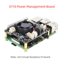 Raspberry Pi X710 Power Management with Wide Voltage Input(6V to 36V), Safe Shutdown Expansion Board for Raspberry Pi 4 Model B/3B+/3B/3A+