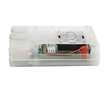 Raspberry Pi 4 Model B Protective ABS Case with Cooling Fan and 3pcs Heatsinks
