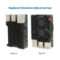 Raspberry Pi Aluminium Alloy Metal Armor Cooling Case with Dual Fan