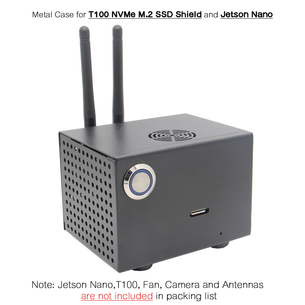Geekworm T100-C1 Metal Case for Jetson Nano Rev A02 and T100