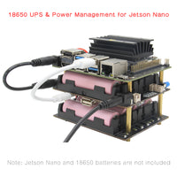 NVIDIA Jetson Nano 18650 UPS ( 5.1V 8A Output ) & Power Management Expansion Board T200 Shields