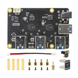 Raspberry Pi 4 X180 7-port stackable USB3.0 Hub HAT Expansion Board