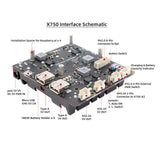 Raspberry Pi 4B/3B+/3B 18650 UPS & Power Management Expansion Board X750 Shields