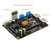 Raspberry Pi 4 Model B X760 802.3at POE Expansion Board (Max. 5V 5A Output) Compatible with Raspberry Pi 4 Model B/3B+