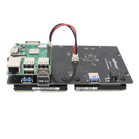 "Raspberry Pi X822 V1.0 Dual 2.5"" SATA HDD/SSD Storage Expansion Board"