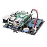 Raspberry Pi X852 3B+/3B V1.1 Dual mSATA SSD Storage Expansion Board