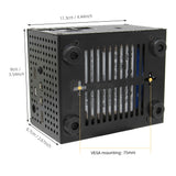 Raspberry Pi 4B X825 Matching Metal Case +Power Switch+Cooling Fan, Honeycomb Chassis for X825 & Raspberry Pi 4 Model B