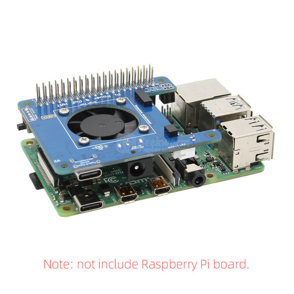 Raspberry Pi 4 Model B Programmable Smart Temperature Control Fan+Power HAT Board