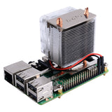 Raspberry Pi 4B/3B+/3B Ice-Tower CPU Cooling Fan with Heatsink