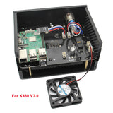 Raspberry Pi X830 3.5 Inch HDD SATA Storage Board Matching Metal Case+Power Control Switch +12V Cooling Fan Kit