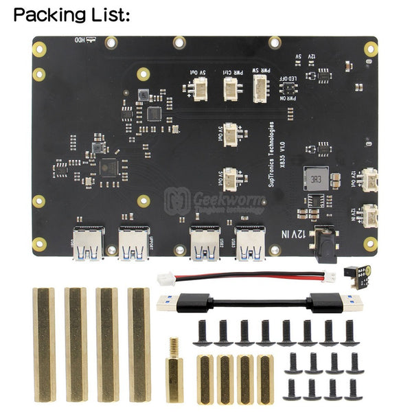 Raspberry Pi 4 X835 3.5 inch SATA HDD Storage Expansion Board Compatible with Raspberry Pi 4 Model B