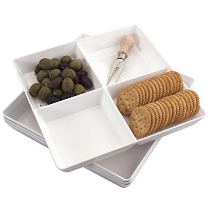 Serving platters & spoons set