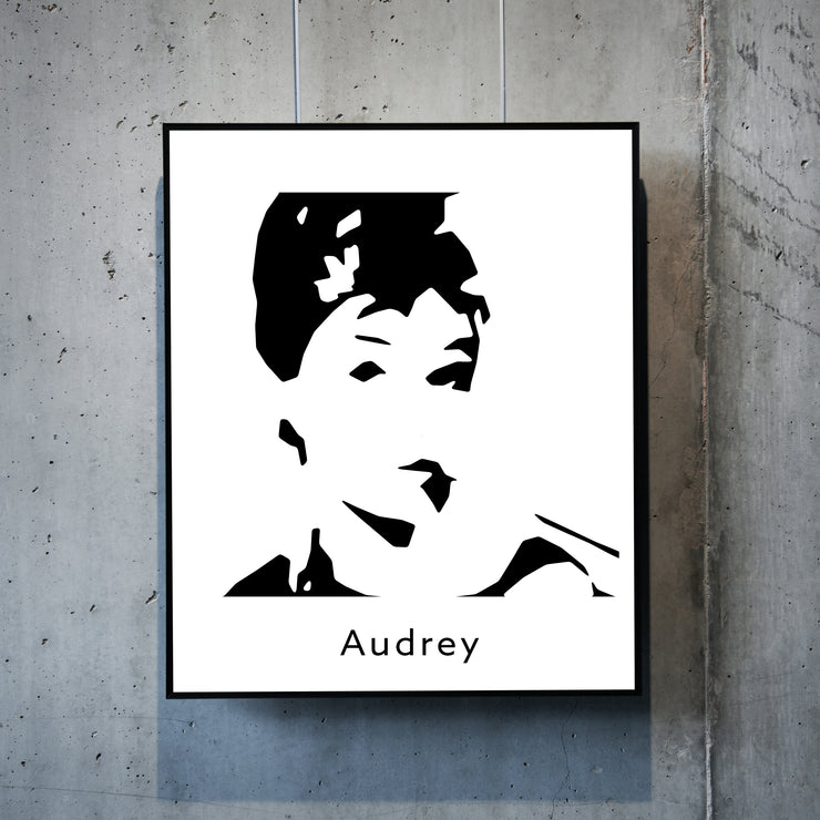 Art print of Audrey Hepburn. Browse our online art prints store or visit our art prints shop in Temple Bar, Dublin.